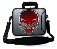 15 15.4 15.6 Red Skull Neoprene Laptop Carrying Bag Sleeve Case Cover Holder w/ Side Pocket +Shoulder Strap For HP DELL<br><br>Aliexpress