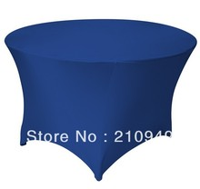 Free Shipping 30pcs 4 ft. Round Stretch Table cover spandex table coversround table wedding cloth