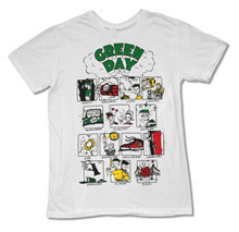 "GREEN DAY ""DOOKIE SONGS"" WHITE SLIM FIT T-SHIRT NEW OFFICIAL ADULT PUNK ROCK t shirt making company"