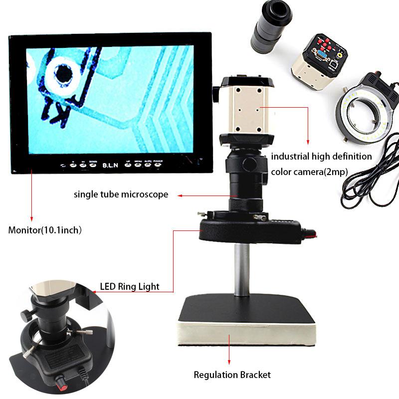 mini Camera Stand USBVGACVBS Interface automatic Brightness control white balance 2MP Industrial Microscope Camera (2)