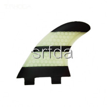 FCS -G5 surfboard fins with fiberglass honey comb material rainbow color SURF fins (Tri-set)