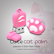 Cute Cat's Paw USB Flash Drive Gift Pen Drive Creative USB 2.0 Flash Memory Stick 64GB 32GB 16GB 8GB 4GB 2GB(China)