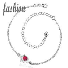 silver plated Anklet,New Design Fashion silver-plated jewelry,Delicate Handmade Cheap Anklets for gift bijoux joias