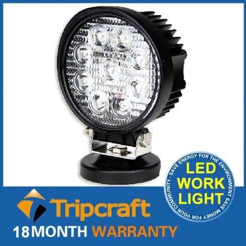 1Pcs 27W LED Work Light 12V IP67 Spot/Flood Fog Light Off Road ATV Tractor Train Bus Boat Floodlight ATV UTV Work Light<br><br>Aliexpress