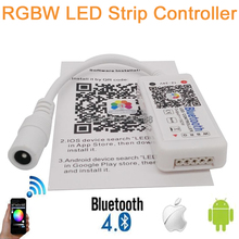 LED RGB Controller DC 12-24V Max 192W Mini Bluetooth 4.0 RGBW LED Controller for RGBW LED Strip Wireless iOS Android APP Control(China)