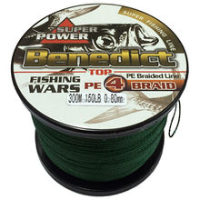 Brands New 0.8mm 150LB multifilament fishing line 300M braided line pe supper strong fiber Braided Wire(China)
