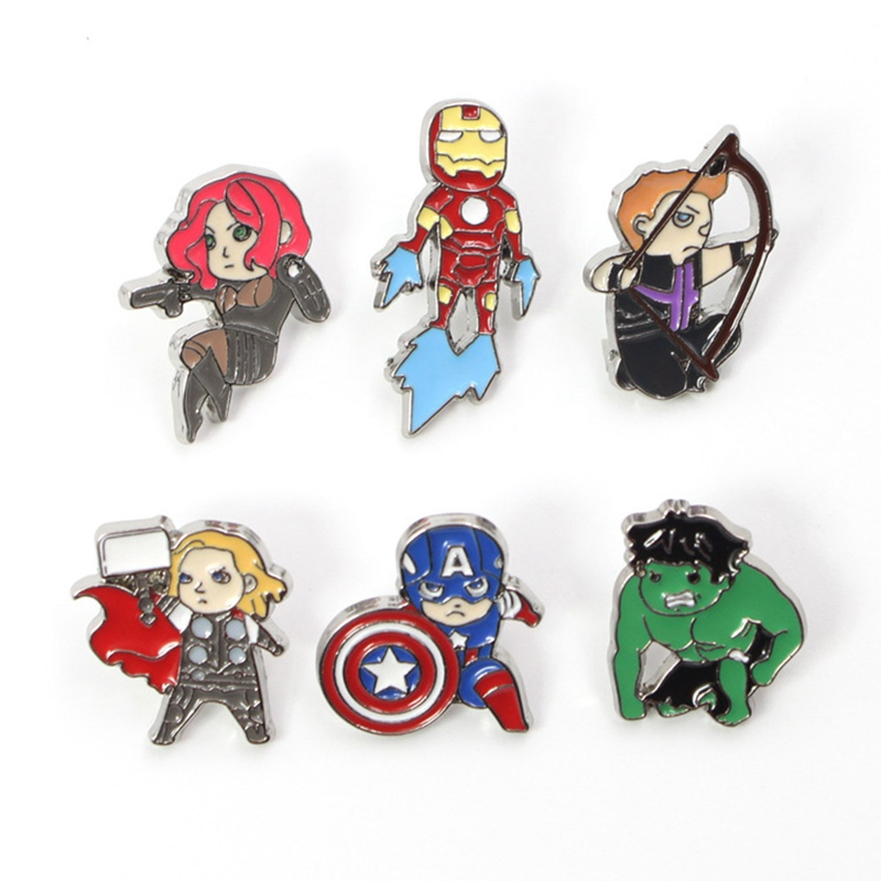 Cute Endgame War Thanos Super hero Cute Enamel Pin badge Movie Jewelry Cosplay Accessory Brooch