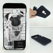 Geek Custom Pug Phone Cases Soft TPU For Samsung Galaxy 2017 A5 A7 A3 J7 J5 J3 J2 Prime ON5 ON7 A320 A520(China)