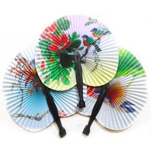 Chinese Hand Paper Fans Pocket Folding Bamboo Fan Wedding Party Favor #ZH224