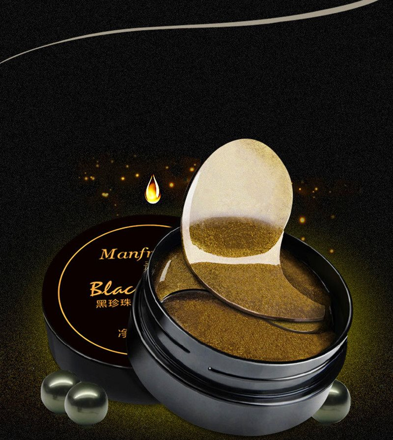 Korean Cosmetic Black Pearl Collagen Eye Mask Gel Anti-wrinkle Dark Circles Eye Bags Remover Gold Eye Mask Patches for the Eyes 11