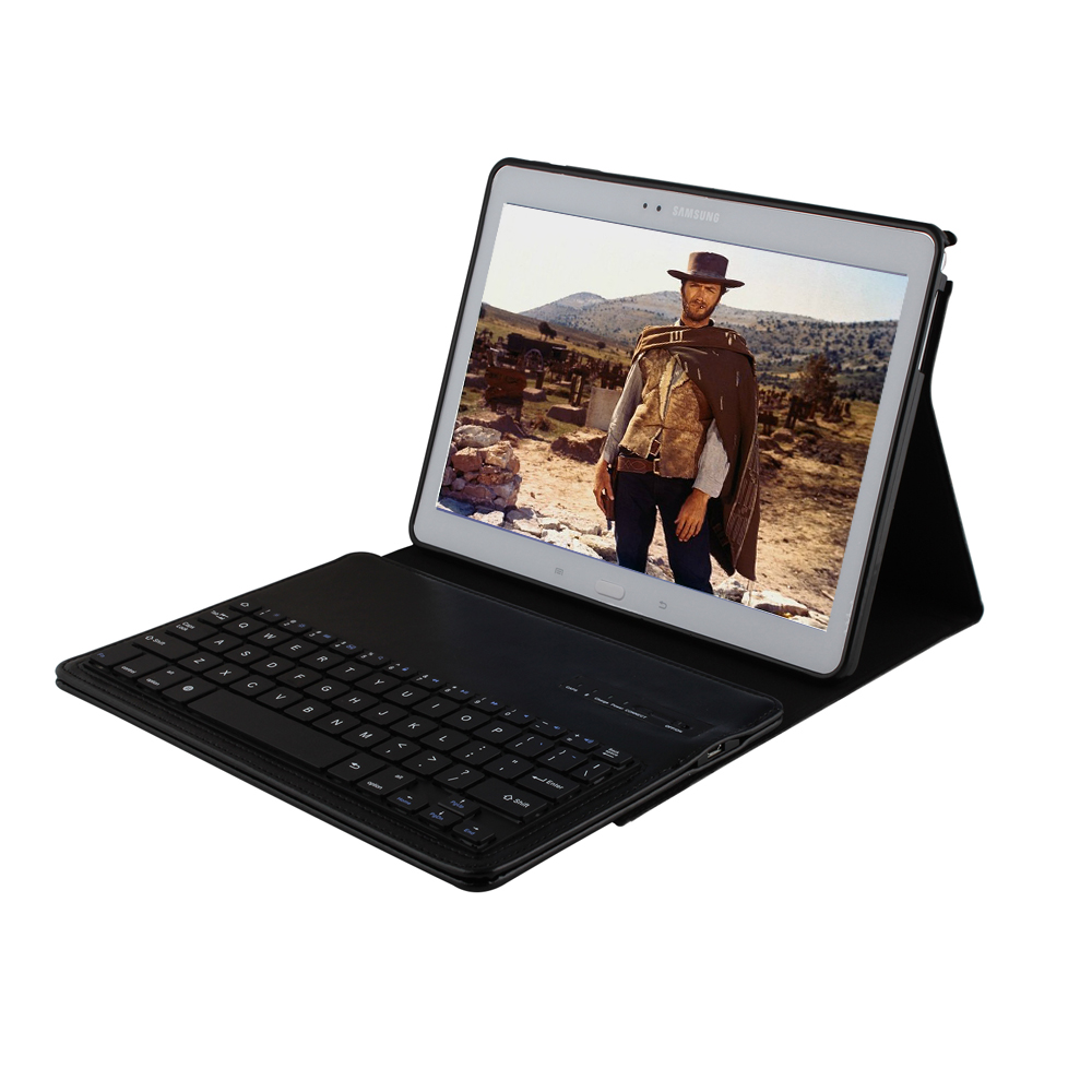 Crazy Horse PU Leather Removable Wireless Bluetooth Russian/Spanish Keyboard Cover For Samsung Galaxy Tab S 10.5 T800 T801 T805<br>