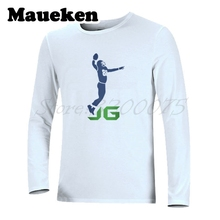 Men Autumn Winter #88 Jimmy Graham Logo Seattle T-Shirt Long Sleeve Tees T SHIRT Men's Fashion JG Logo W1030012(China)