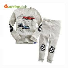 Kids pajamas Baby boys autumn cartoon suits Cars sweatshirt +trousers kids casual hoodies set children clothing sets KS211