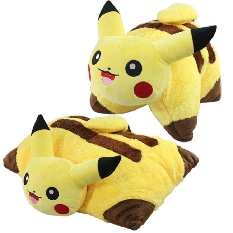 38*45cm Kawaii Pikachu Plush Toys Baby Soft Pillow Cartoon Pikachu Sleep Cushion Stuffed Animal Doll Kids Toy Christmas Gift<br><br>Aliexpress