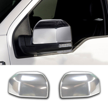 FIT FOR 2015 2016 2017 FORD F150 F-150 CHROME SIDE MIRROR COVER TRIM REAR VIEW MOLDING CAP BEZEL LID FRAME OVERLAY GARNISH