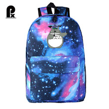 Women Fashion School Printing Backpacks Female Canvas Totoro Backpack Travel Bags Cosmos Backpacks Sac A Dos Mochila