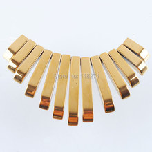 Free shipping Natural Gold Hematite Gem Graduated 13Pcs Stick Beads Pendant Set PN1195