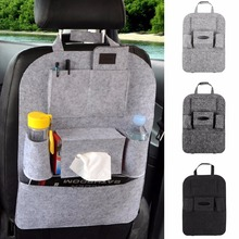 New Multifunction Polyester Car seat storage bag Hanging back Car product vehicle storage box(China)