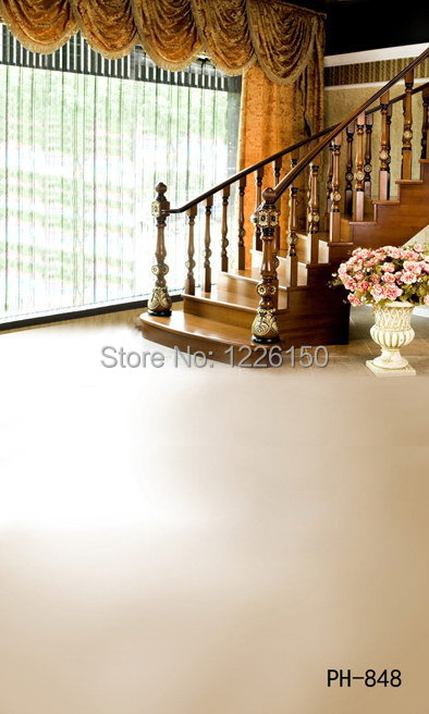 Free Professional stairs interior Photo Backdrop ph-848,10ft x 10ft studio backdrops photography,photography background vinyl<br>