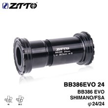 Buy ZTTO BB386 EVO 24 Adapter bicycle Press Fit Bottom Brackets Axle MTB Road bike parts 24mm Crankset chainset for $21.23 in AliExpress store