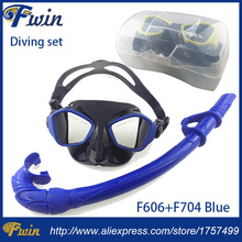 2017 new arrival Diving Protective Goggle Breathing Tube roll up silicone Snorkeling Mask diving Set with Plastic box(China)