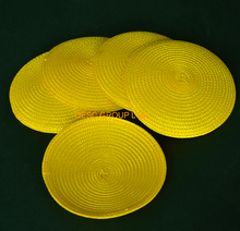 Yellow 14cm Round PP straw base Disc base for sinamay fascinator .