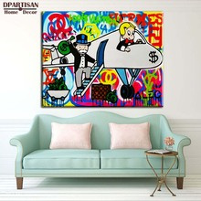 drivers for Alec monopoly Graffiti art print canvas for wall art decoration oil painting wall painting picture No framed M153