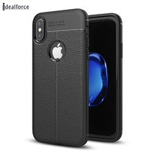 Ultra Slim Shell Cover For X Litchi stria Smart Phone Bag Back TPU Case for 5 SE 6 7 10(China)