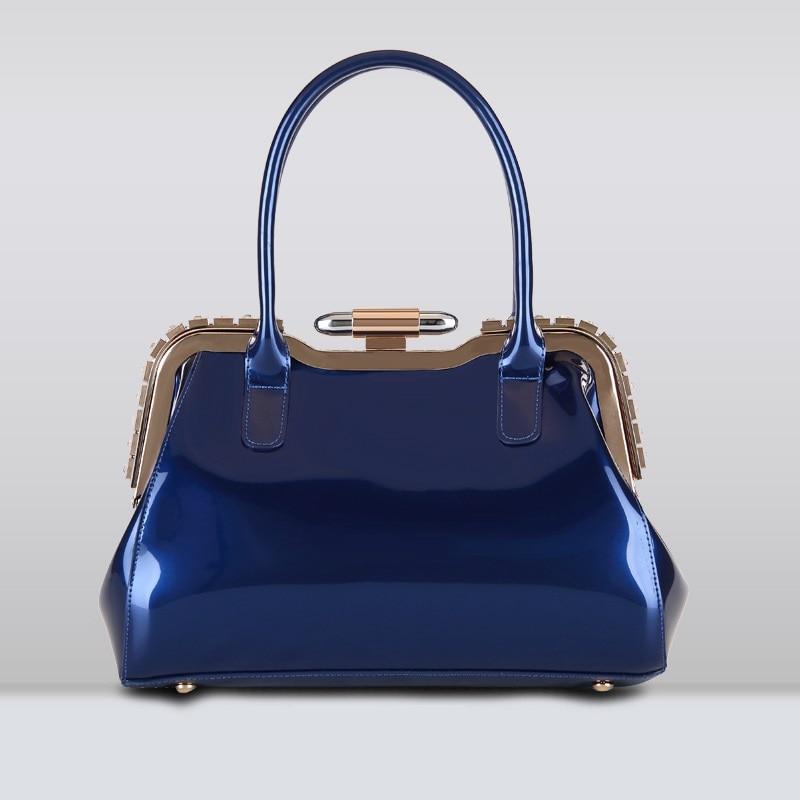 2017 Special Offer Luxury Handbags Women Bags Designer Patent Leather Laptop Handbag Solid Hobos Totes Dinner Wrist Bag <br>