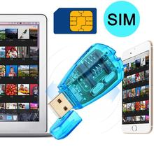 USB Cell Phone Backup Reader Contacts SMS SIM Card Reader Writer Copy Edit Backup Portable Adapter