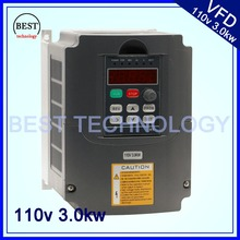 110 V 3kw VFD Variable Frequency Drive VFD /Inverter Input 1or 3HP 110V Output 3HP 110V for control cnc spindle motor speed(China)