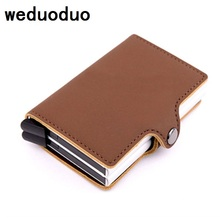 weduoduo High Quality Men Credit Card Holders American European Style Fashion Card Wallet Occident Card Case(China)