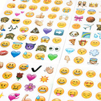 4pcs/lot Sheets Stickers Hot Popular Cute Lovely Die Emoji Smile Face For Notebook Message Twitter Vinyl Funny Creative Deco