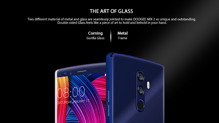 DOOGEE MIX 2 6GB RAM 64GB ROM MTK Helio P25 2.5GHz Octa Core 5.99 Inch Bezel-less FHD+ Screen Quad Camera Android 7.1 4G LTE Smartphone