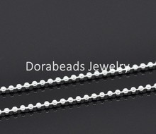 8SEASONS 10M silver-color Ball Chains Findings 1.5mm Dia. (B13961)