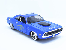 Maisto 1:24 1970 DODGE Challenger RT Coupe Police Diecast Model Car Toy New In Box Free Shipping