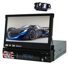 "7""Touch Screen Autoradio GPS Car DVD player FM MP5 RDS MP4 Radio Sub USB Music Stereo MP3 BT 1 Din System Player Auto + camera"