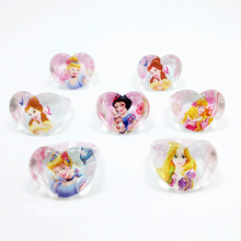 Free Shipping 50pcs Lovely Mix Cartoon Snow Cinderella Girls Rapunzel Princess Girl Kids Heart-shape Baby Rings Wholesale Jewelr(China)