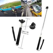 Gopro Accessories Extendable Handheld Aluminum Flexible Telescopic Monopod Tripod Holder for Go Pro HD Hero1 2 3 3+ 4 Carmera(China)