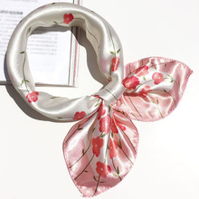 Soft Silk Square Scarf Scarves Business Suits Head Wrap Shawl Satin Stewardess