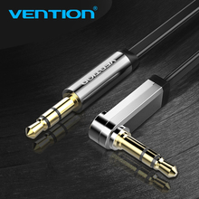 Vention Aux Cable 3.5mm Jack To Jack 90 Degree Right Angle Flat Audio Cable For Car iPhone Headphone Beats Speaker Aux cord MP3(China)