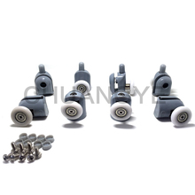 Set of 8 Single Shower Door Rollers / Runners / Wheels / Pulleys wheel 25mm Diameter Replacement Parts(China)