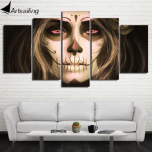HD Printed Day of the Dead Face Group Painting room decor print poster picture canvas decoration Free shipping/ny-1178