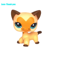 Heart-shaped on face lovely cat EUROPEAN Kitty LPS Toy #3573 Children's gifts Cute pet Blue eyes