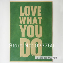 "Love what you do inspirational Jobs Vintage Style Retro Paper Poster Good Gifts,16"" x 11""(China)"
