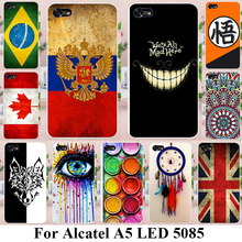 TAOYUNXI Soft TPU Silicone Phone Cases For Alcatel A5 LED OT5085 5085Y 5085D 5.2 INCH Covers UK Brazil Russia Flags Back Bags