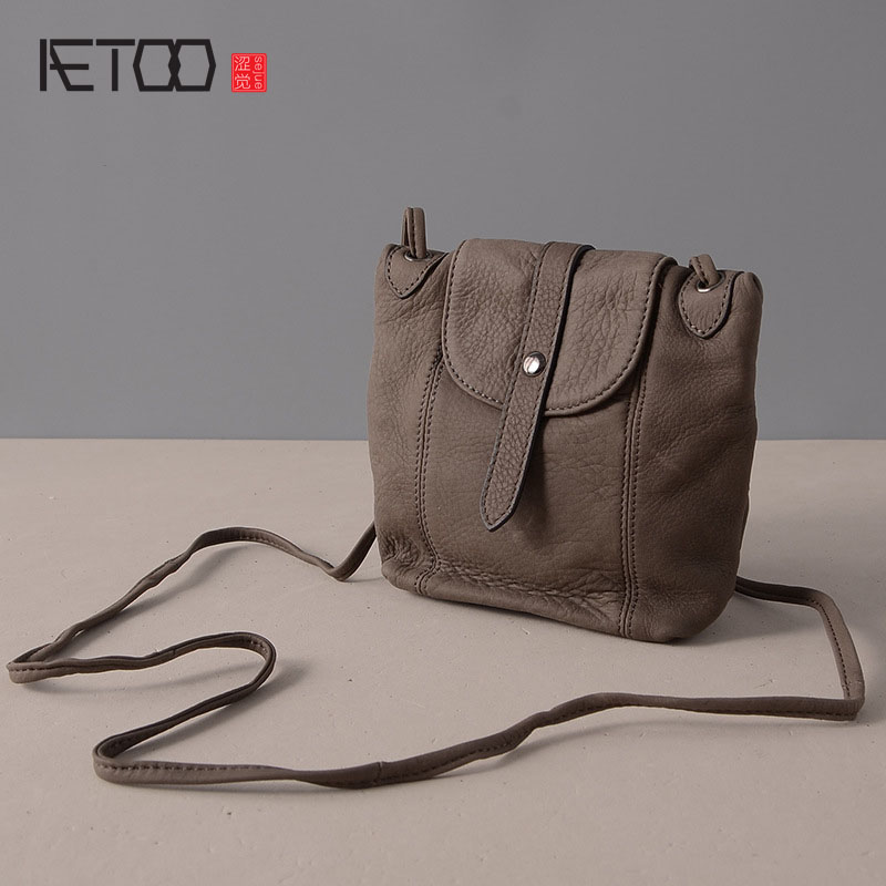 AETOO New leather Messenger bag package retro fashion ladies diagonal shoulder bag leather handbags<br>