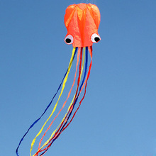4M Octopus Kite Long Soft Kite with Handle Line Outdoor Sports Inflatable And Easy To Fly Kid Outdoor Fun Cometa Chinas Voladora