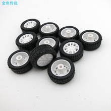 F17678 JMT 10Pcs  20*8*1.9mm  Rubber Hollow Tire Car Wheel Model Wheels DIY Toy Accessories for Car