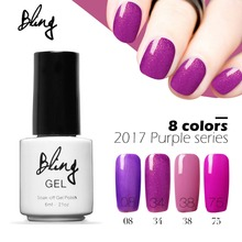 BILING 1pcs Purple Series Colorful Nail Gel Polish Soak Off Long Lasting UV LED Nail Gel Varnish Art Design(China)